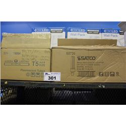 AURORA T5 FLUORESCENT TUBES AND SATCO LED LIGHTS