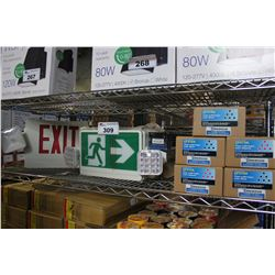 SHELF INCLUDING EXIT SIGNS AND INK