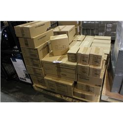 PALLET OF DEVICE BOXES, CABLE STAPLES AND MORE