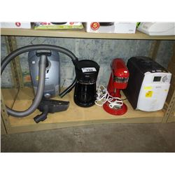 MIELE CANISTER VACUUM, OSTER COFFEE MAKER, SUNBEAM BREAD MAKER AND CUISINART MIXER