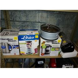 HAMILTON BEACH KETTLE & RICE COOKER/STEAMER, OSTER BLENDER AND PAIR OF FOOD SAVER SEALING SYSTEMS