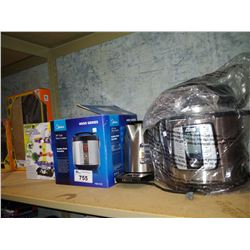 LOT INCLUDING POWER QUICK POT & MIDEA RICE COOKERS, KRUPS KETTLE AND MARBLE MANIA GAME
