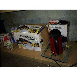 LOT INCLUDING HAMILTON BEACH DEEP FRYER, BRITA WATER FILTER, KETTLE, SCALE AND MORE