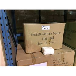 19 BOXES OF MINI PAD 180MM FEMININE SANITARY NAPKINS 18-20 PCS / 100 PACKS & 4 BOXES OF PACKAGING