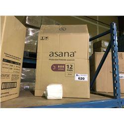 10 BOXES OF ASANA 31CM NIGHTTIME LONG FEMININE SANITARY NAPKINS