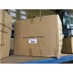 BOX OF ASSORTED SUMMER MIXER 12 PACK FEMININE SANITARY NAPKINS