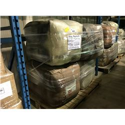 PALLET OF INDUSTRIAL SIZED BAILS OF WEAVERS COLORED WOOL