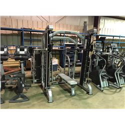 ATLANTIS E-154 / E-155 SHOULDERS, CHEST / LEGS COMMERCIAL FREE WEIGHT SMITH RACK