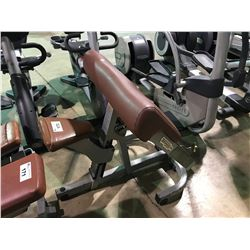 TECHNOGYM GREY / BROWN ADJUSTABLE COMMERCIAL PREACHER CURL BENCH