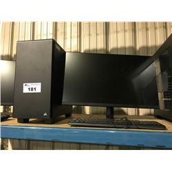 CORSAIR GAMING DESKTOP (M2000 GPU, ASUS Z170-E MOTHERBOARD, 16GB RAM) INCLUDES MONITOR &