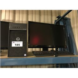 DELL PRECISION 3630 WORK STATION COMPUTER (HARDDRIVE REMOVED) INCLUDES MONITOR & KEYBOARD