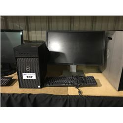 DELL PRECISION 3630 WORKSTATION COMPUTER INCLUDES MONITOR & KEYBOARD (HARDDRIVE REMOVED)
