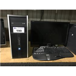 HP COMPACT 8200 ELITE CONVERTIBLE MINI TOWER DESKTOP COMPUTER INCLUDES MONITOR & KEYBOARD