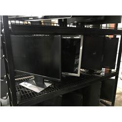 4 ASSORTED COMPUTER MONITORS