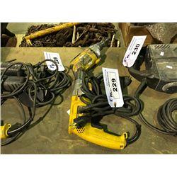 """1 DEWALT DW235G 1/2"""" ELECTRIC DRILL & DEWALT DW2678 VERSA CLUTCH SCREW GUN"""
