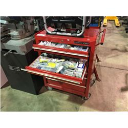 BYNFORD PRO 7 DRAWER MOBILE TOOL CHEST WITH CONTENTS