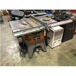 RIGID MOBILE INDUSTRIAL TABLE SAW WITH BLADES