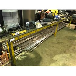 YELLOW INDUSTRIAL WORK TABLE