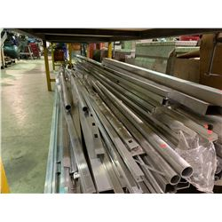 ASSORTED LENGTHS OF C CHANNEL, TUBING & RAILING