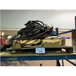 PALLET OF CABLE AIR LINE & FITTINGS
