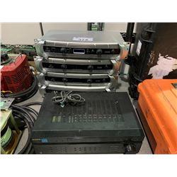 4 BEHRINGER INUKE NU3000 DSP HIGH DENSITY 3000WATT POWER AMPLIFIERS & SONY AUDIO/VIDEO CONTROL