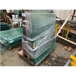 MOBILE A FRAME RACK WITH GLASS