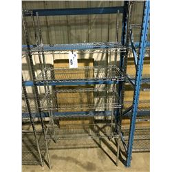 "33""X18"" ULINE 4 TIER METAL RACK"