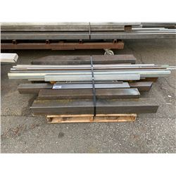 PALLET OF ASSORTED SQUARE & ROUND STOCK STEEL