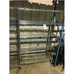 "45""X18"" SEVILLE CLASSICS MOBILE 5 TIER METAL RACK"