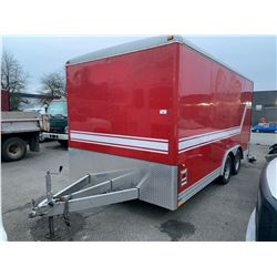 2003 WELLS CARGO BOX 16'X7' TRAILER, RED, VIN#1WC200G2934049420, NO ICBC DECLARATIONS