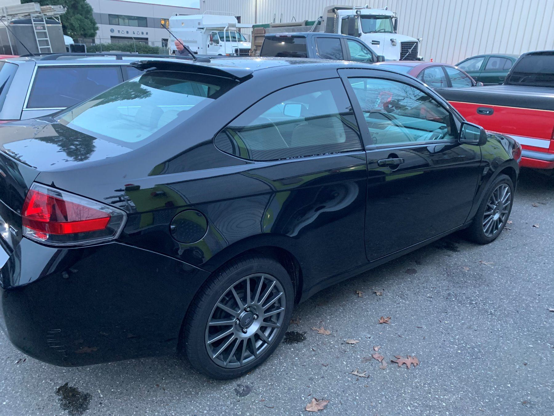 2010 Ford Focus Ses 2dr Coupe Black Vin 1fahp3dn4aw172879