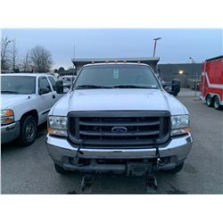 2003 FORD F-350 XL SUPER DUTY, DUMP, WHITE, VIN # 1FDWF36L33EC33644