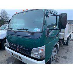 2006 MITSUBISHI FLSO FE180, DUMP TRUCK, GREEN, VIN # JL6CCH1S66K011169