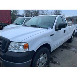 2006 FORD F150, WHITE, PICKUP, GAS, AUTOMATIC, VIN#1FTRF12276KB70024, 217,997KMS, RD,TH,AC, NO ICBC