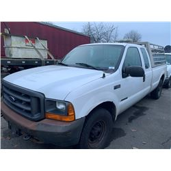 2000 FORD F350 SUPERDUTY, WHITE, 2DRPU, GAS, AUTOMATIC, VIN#1FTSX30F4YED28918, 260,700KMS, RD,TW,