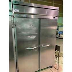 BEVERAGE -AIR HORIZON SERIES HF2-1S FRENCH DOOR STAINLESS MOBILE REFRIGERATION UNIT
