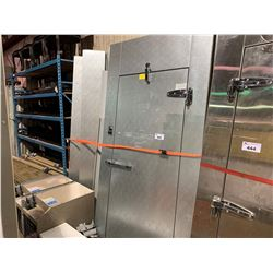 NORLAKE SILVER FINISH WALK-IN COOLER APPROX 8FT X 10FT X 8FT WITH COOLING UNIT (3PCS)