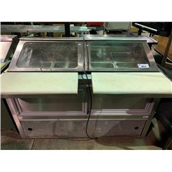 """ENVIROTECH E 24715 38""""X60"""" STAINLESS STEEL REFRIGERATED MOBILE SANDHICH PREP STATION"""
