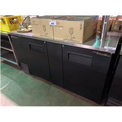 """TRUE BLACK & STAINLESS 69""""X27"""" MODEL TBB-3 REFRIGERATED COLD BEVERAGE SERVER WITH BAR TAP"""