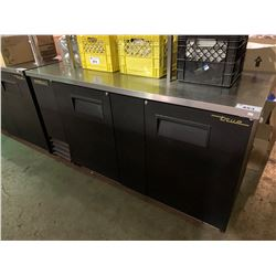 """TRUE BLACK & STAINLESS 69""""X27"""" MODEL TBB-3 REFRIGERATED COLD BEVERAGE STATION"""