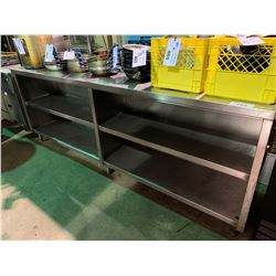 """STAINLESS STEEL 96""""X18"""" MOBILE POTS & PANS STORAGE UNIT"""