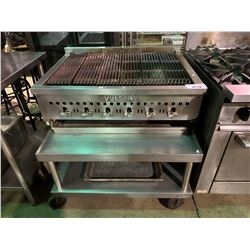 VULCAN STAINLESS STEEL BROILER WITH MOBILE STAINLESS STEEL STAND