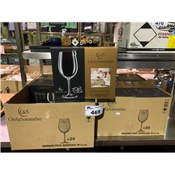 2 BOXES OF APPROX 48 CHEF & SOMMELIER 19 1/2 OZ CABERNET