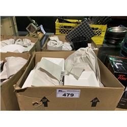 2 BOXES OF ASSORTED RESTAURANT DINNERWARE& MISCELLANEOUS