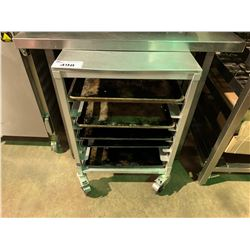 7 TIER STAINLESS STEEL MOBILE PASTRY CART