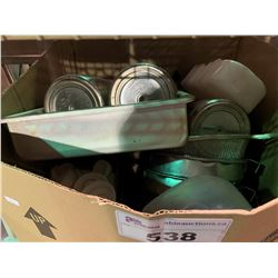 BOX OF ASSORTED COOKING UTENSILS & SIFTERS