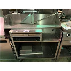 STAINLESS STEEL MOBILE EQUIPMENT STAND & SHELF