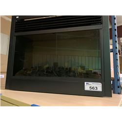 BLACK ORTECH GLASS FRONT ELECTRIC FIREPLACE INSERT