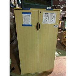 HEAVY DUTY 2 DOOR 4 TIER MAPLE CABINET