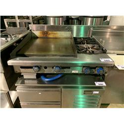 IMPERIAL GRIDDLE WITH 2 BURNER STOVE COMBINATION
